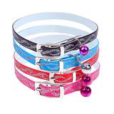 Kattenhalsband met glitters en belletje meerdere kleuren