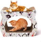 Krabbord voor katten inclusief kattenkruid