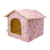 Stoffen huisje roze