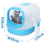 kattenbak met transparante kap