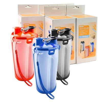 Portable voer- en waterbidon 500 ml