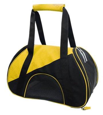Dierendraagtas Sportbag Geel-Zwart