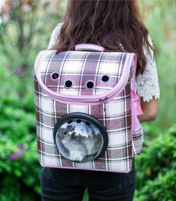 Rugzak Roze / Bruin voor hondjes en katten