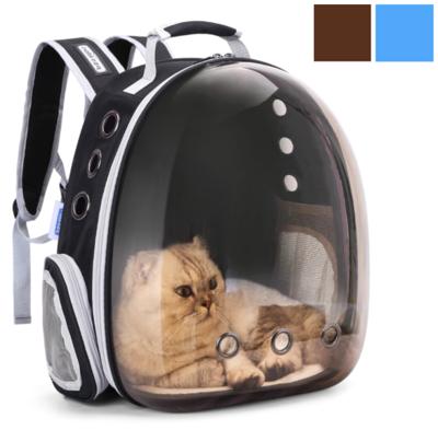 Rugtas transparant bruin of blauw voor hondjes en katten