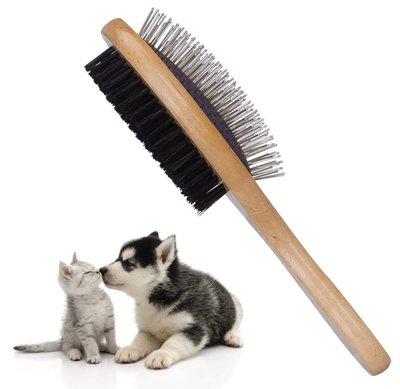 Pinnen borstel hout met poetsborstel voor honden en katten