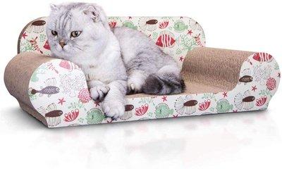 Bank krabkarton kattenspeeltje