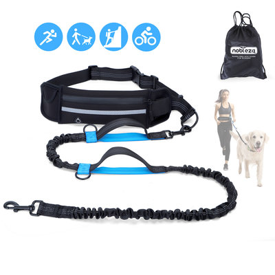 Jogging heupgordel met hondenriem