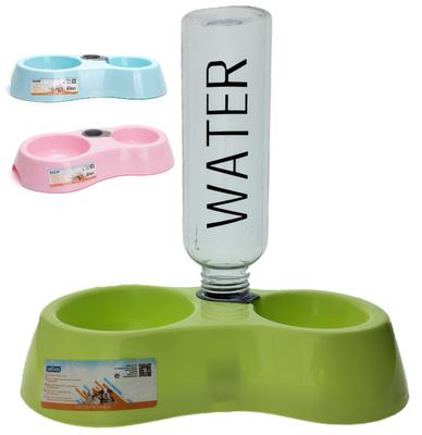 Dubbele voerbak met watervoorraad