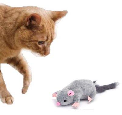Kattenspeeltje grote zachte muis met kattenkruid