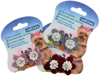 Haarspeld bloem voor honden en katten