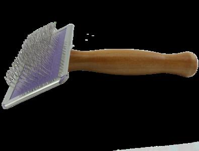 gebogen naald borstel